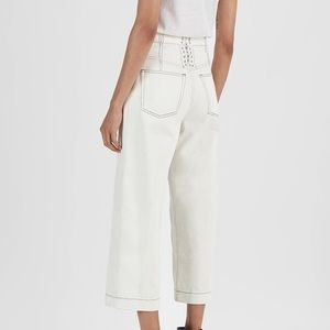 3.1 Phillip Lim Wide Alex Lace Up Jeans